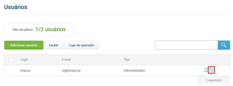 Tela log de acesso - Gerenciamento de Usuários