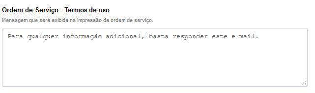 Mensagens - Ordem de Servico - Termos de Uso