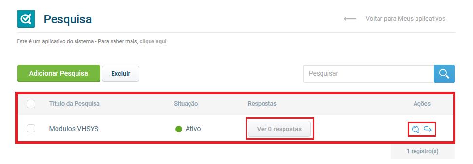 Pesquisa salva - VHSYS app