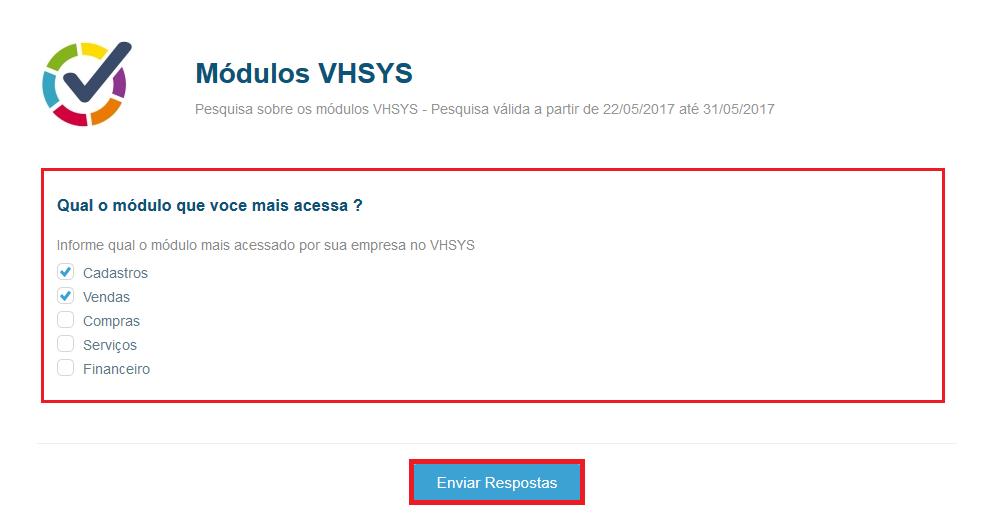 Tela visualizar pesquisa - VHSYS