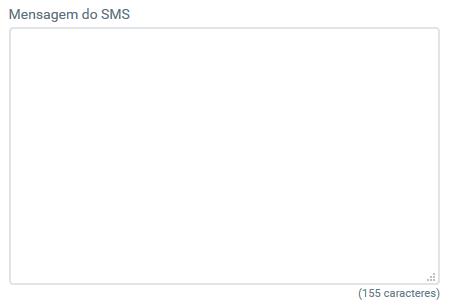 Campo mensagem SMS