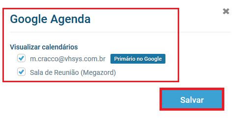 Configuração agenda - VHSYS