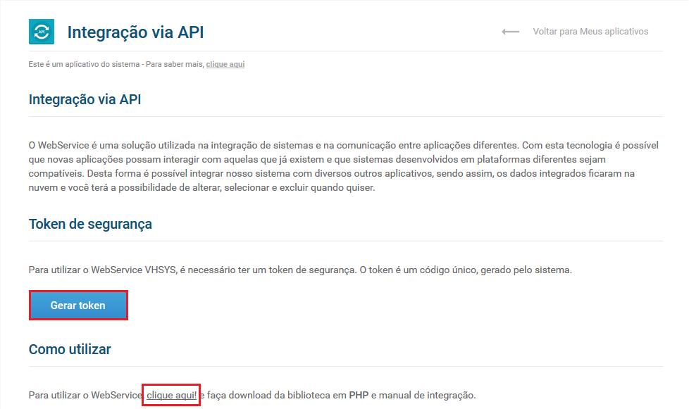 Tela aplicação API - Aplicativo integração API