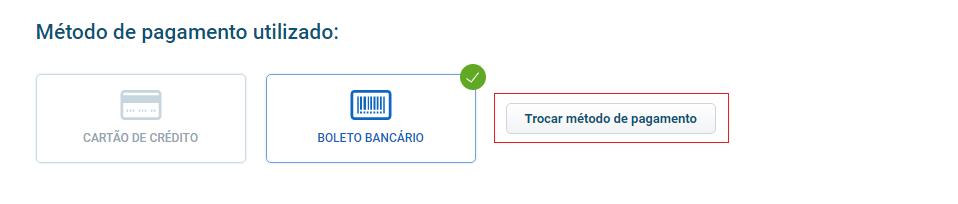 Tela método de pagamento