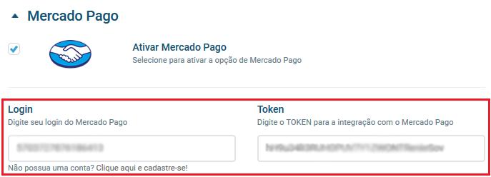 Tela Mercado Pago - VHSYS