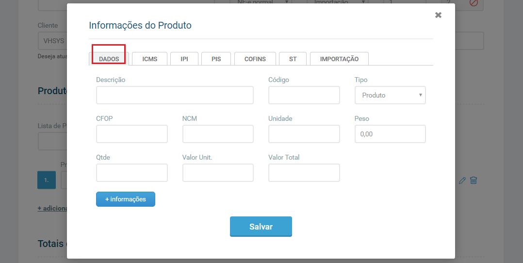 guia dados informacoes do produto