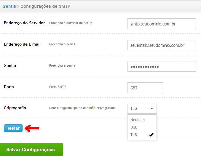 SMTP Próprio