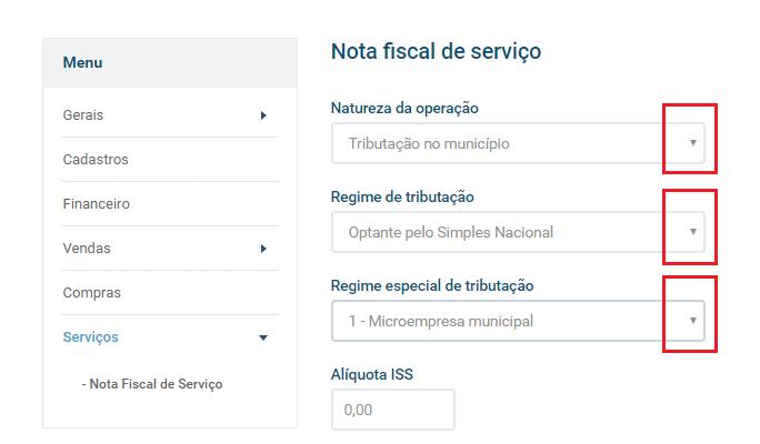 Nota fiscal de serviço