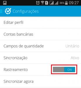 Tela para ativar GPS no app - Aplicativo Rastreamento