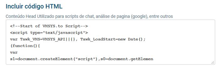 Campo inclusão html