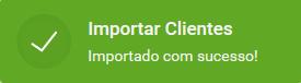 Informação de clientes importados