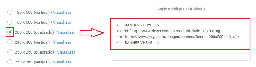 Código HTML - VHSYS