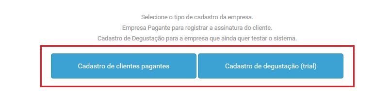 Opção cadastro de empresas - VHSYS