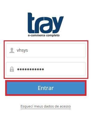 Tela usuário senha - Tray e VHSYS
