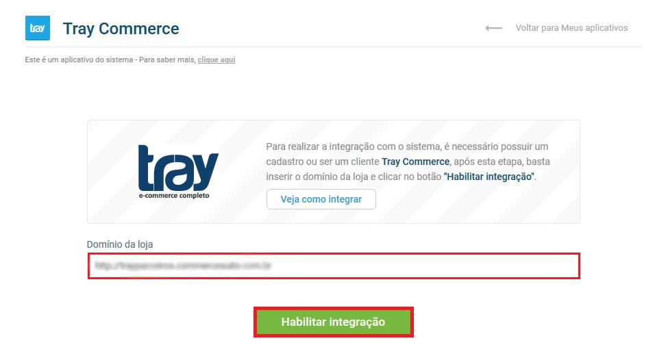 Tela inicial Tray - VHSYS