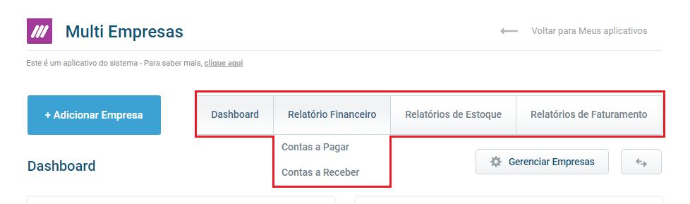 Relatório Financeiro - Multiempresas - VHSYS